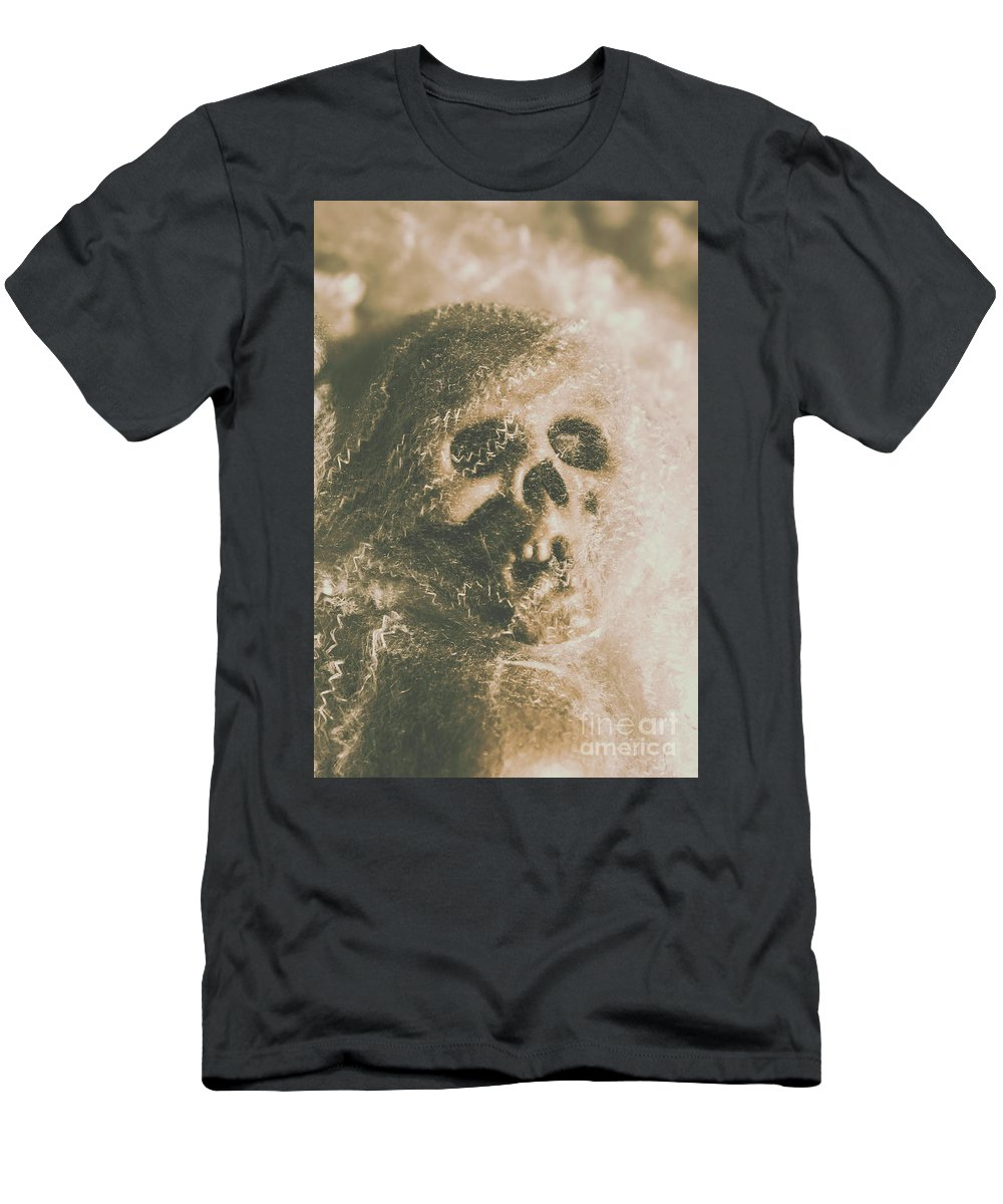 Bone Men's T-Shirt (Athletic Fit) featuring the photograph Webs And Dead Heads by Jorgo Photography - Wall Art Gallery