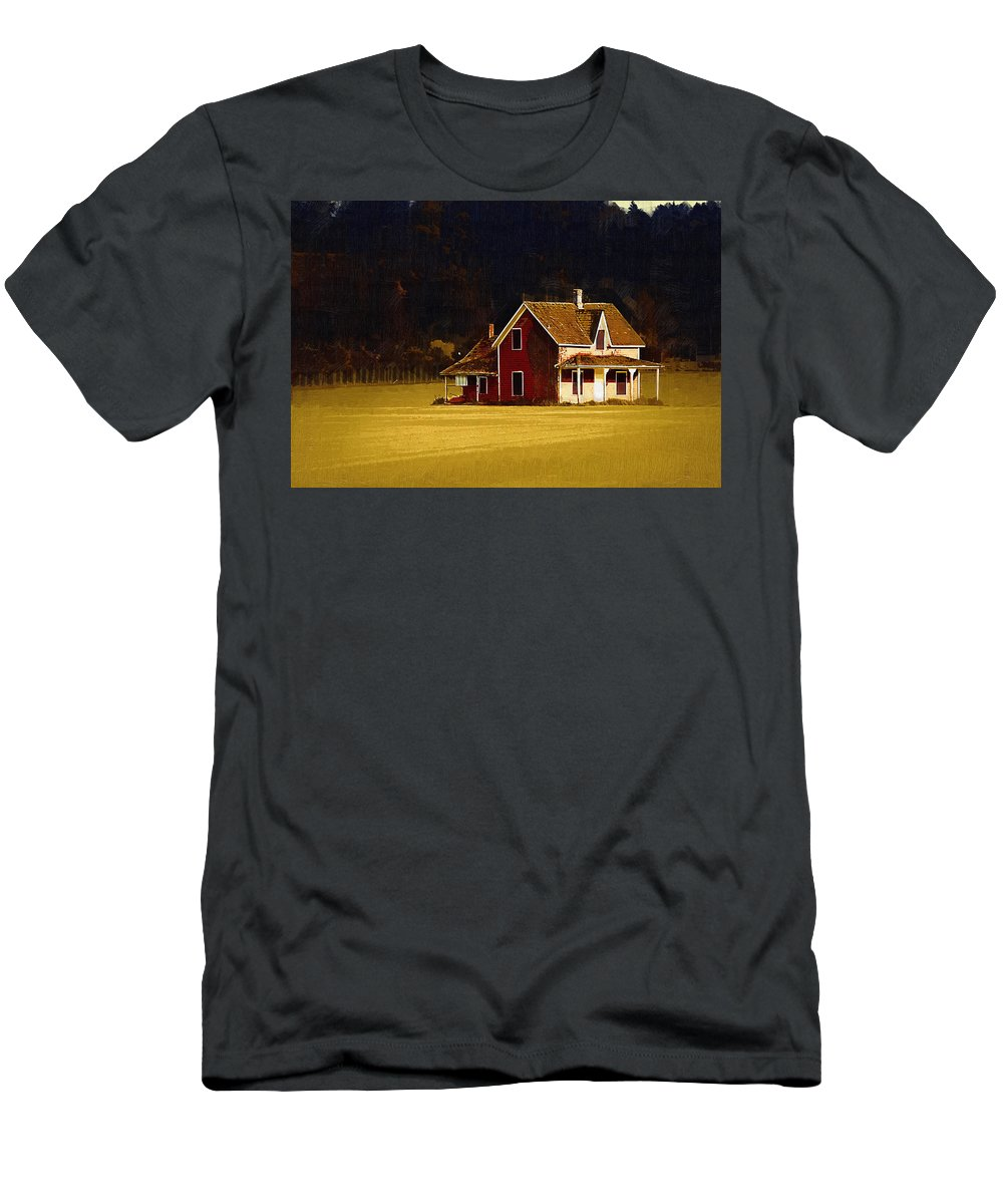 House Men's T-Shirt (Athletic Fit) featuring the photograph Wee House by Monte Arnold