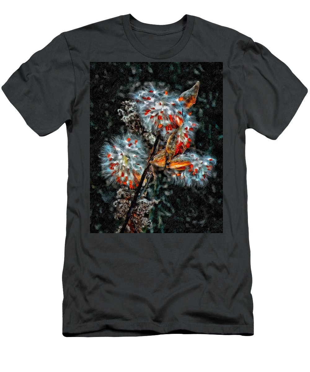 Weed Men's T-Shirt (Athletic Fit) featuring the photograph Weed Galaxy Painted Version by Steve Harrington