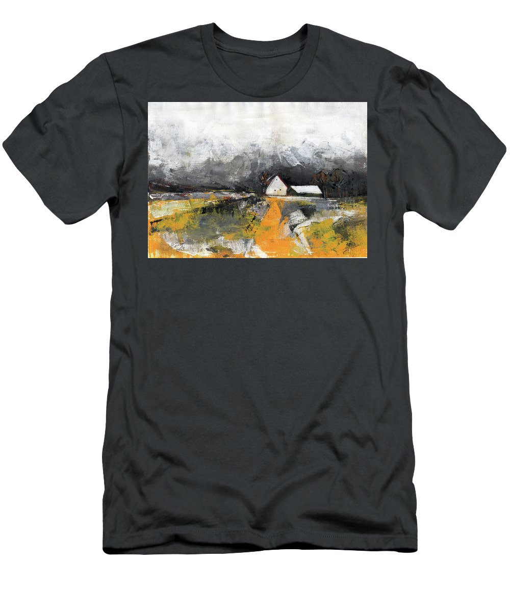 Landscape T-Shirt featuring the painting Welcome home by Aniko Hencz