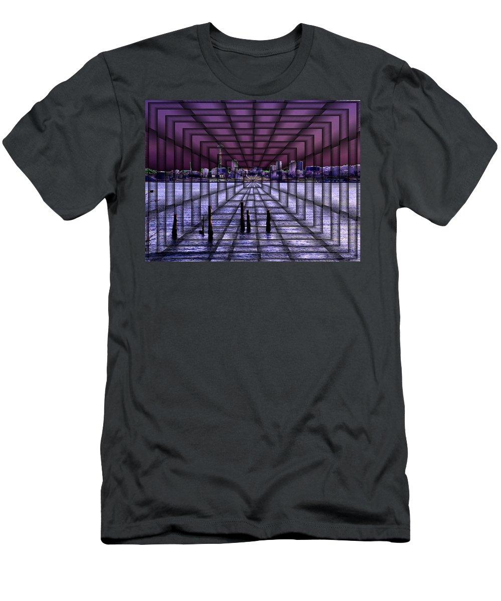 Seattlel Men's T-Shirt (Athletic Fit) featuring the digital art West Seattle Vortex by Tim Allen