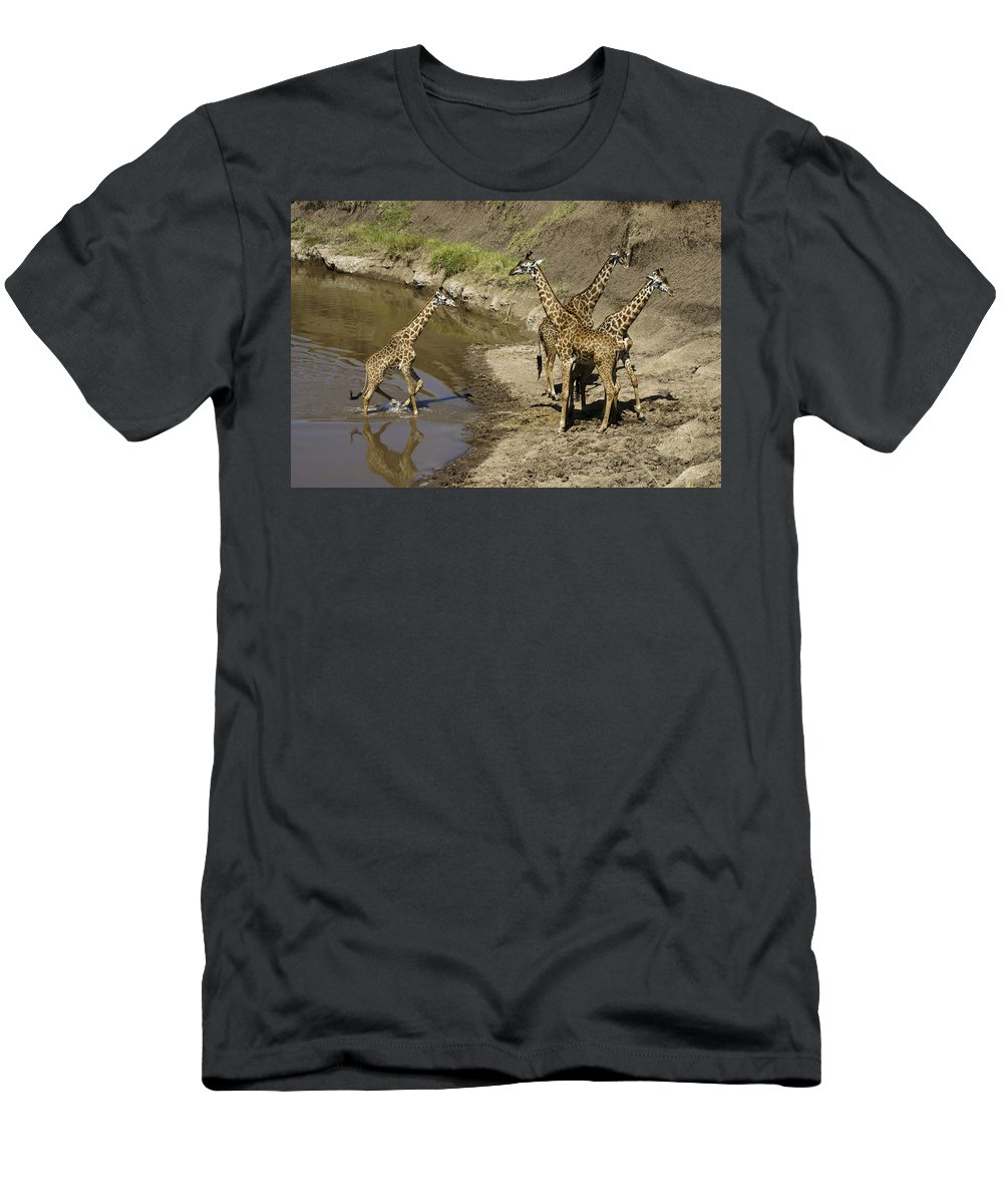 Africa Men's T-Shirt (Athletic Fit) featuring the photograph We've Been Waiting For You by Michele Burgess