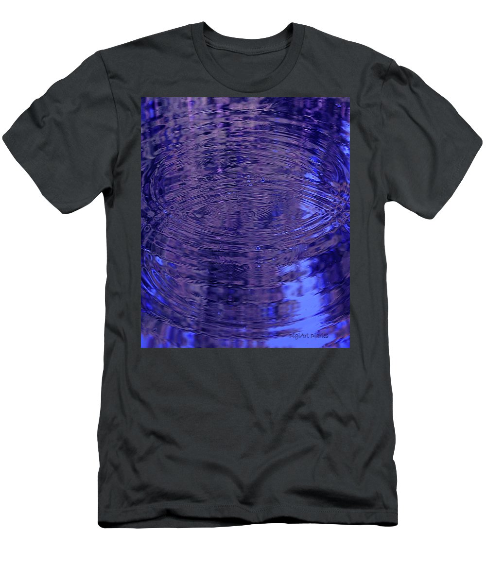 Water Men's T-Shirt (Athletic Fit) featuring the digital art What Breathes Beneath by DigiArt Diaries by Vicky B Fuller