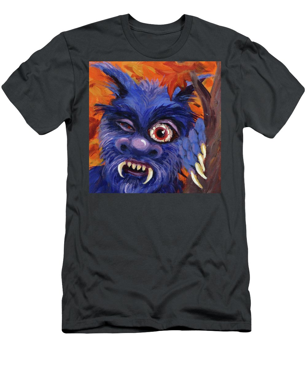 Monster T-Shirt featuring the painting What Costume? by Karen Ilari