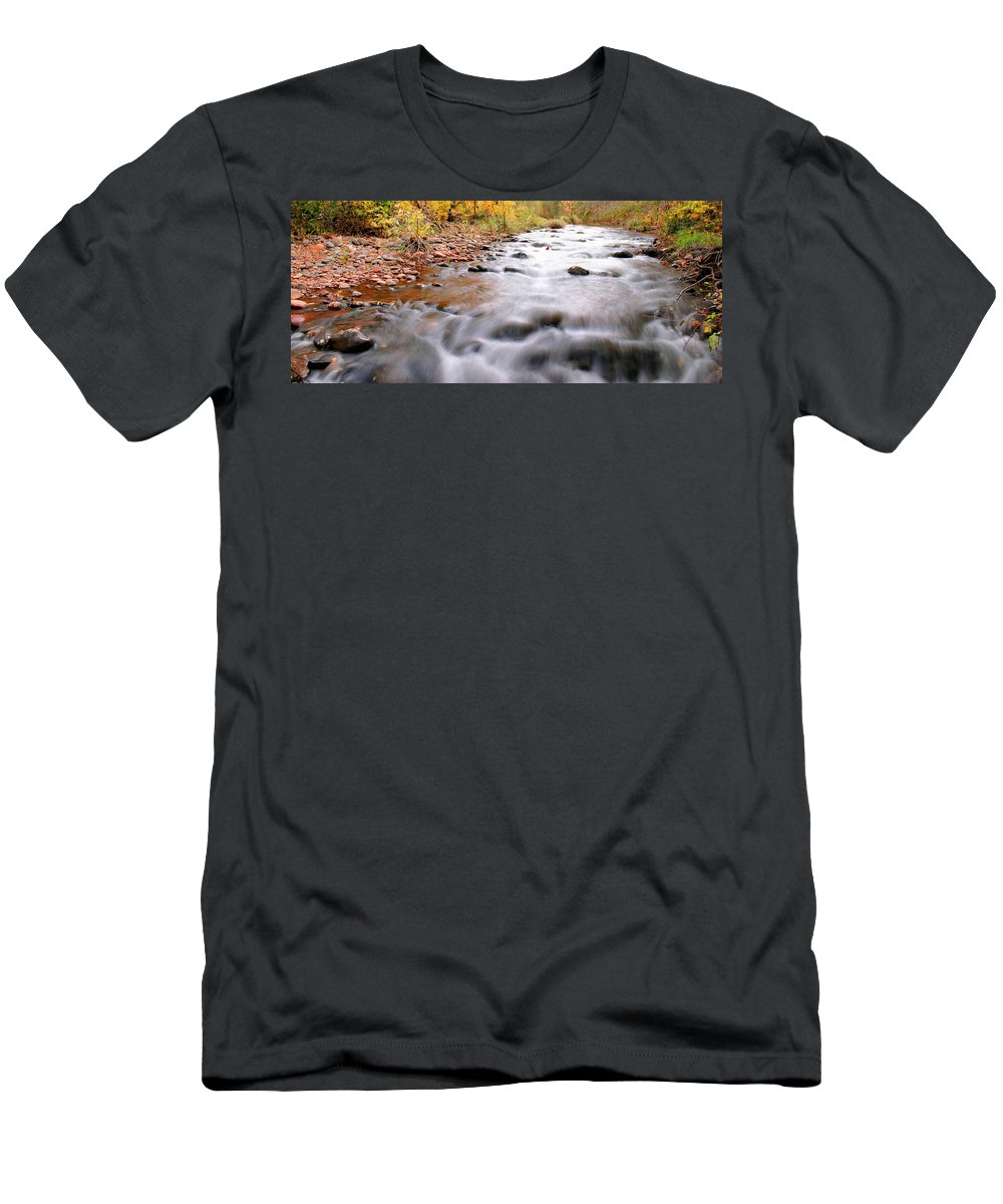 River Men's T-Shirt (Athletic Fit) featuring the photograph Where Peaceful Waters Flow by Kristin Elmquist