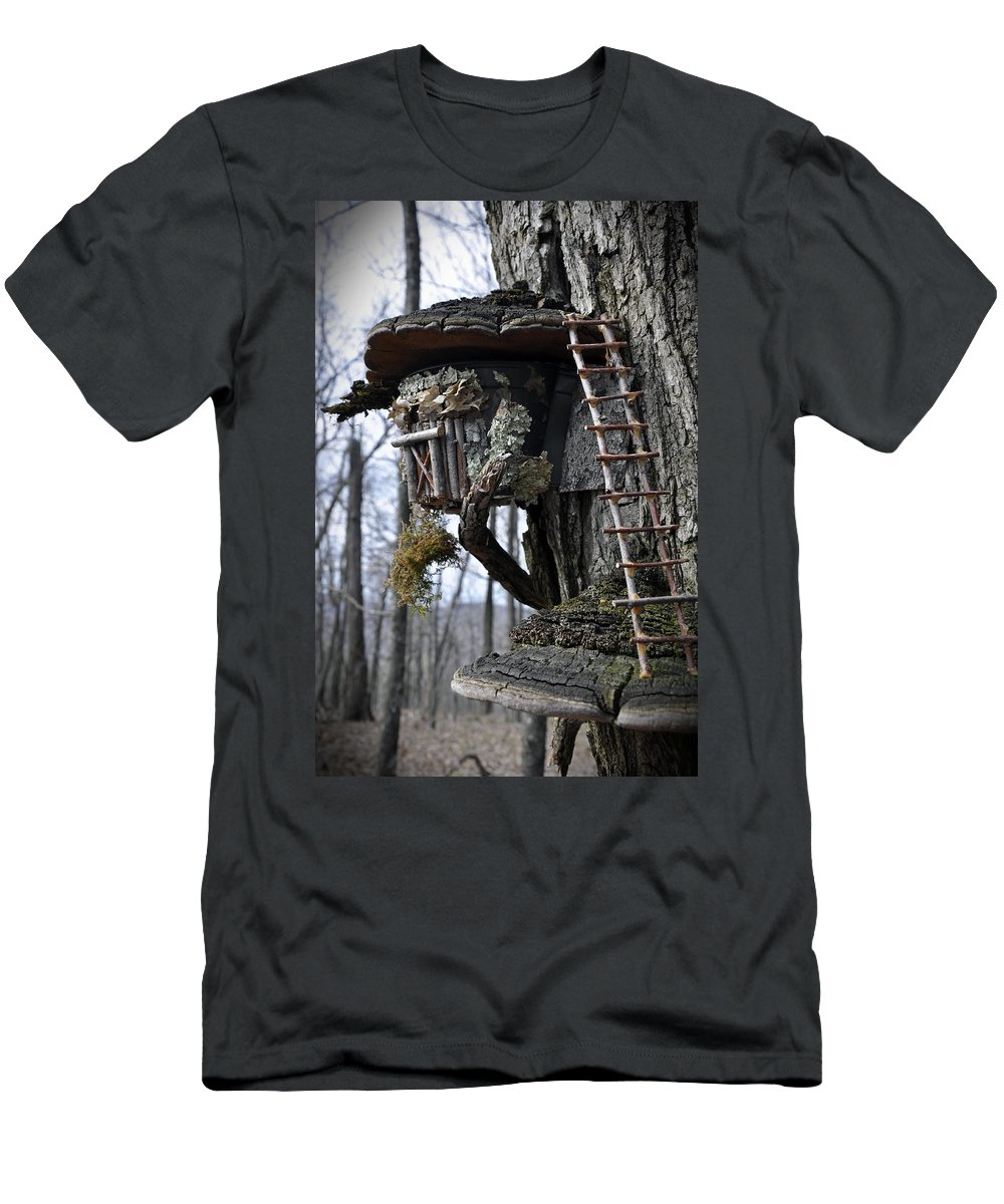 Gnome Men's T-Shirt (Athletic Fit) featuring the photograph Where The Gnomes Live by David Dittmann