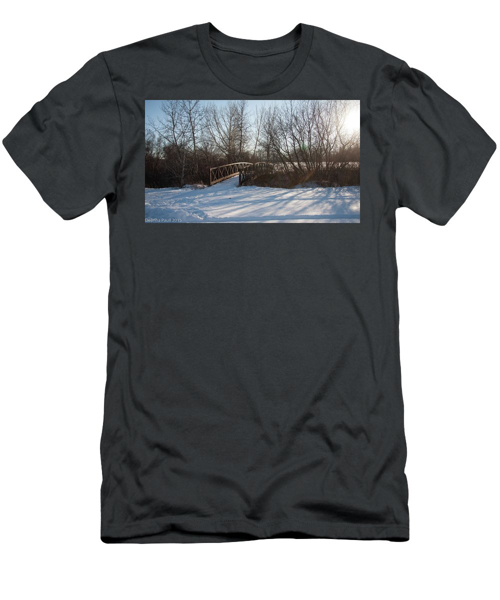 Winter Men's T-Shirt (Athletic Fit) featuring the photograph Whimsicle Winter by Deanna Paull