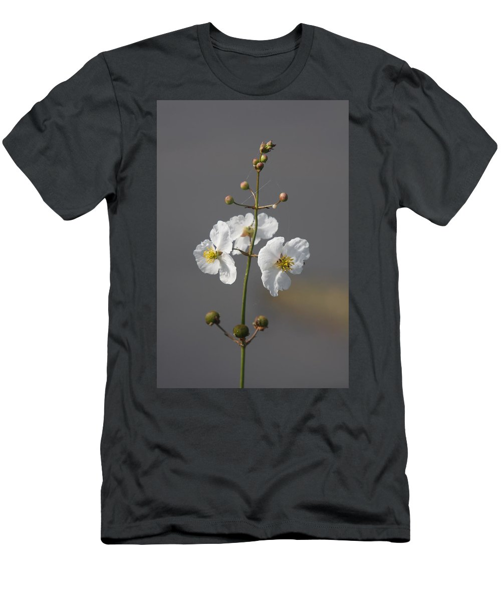 Flowers Men's T-Shirt (Athletic Fit) featuring the photograph White Flower by Christiane Schulze Art And Photography