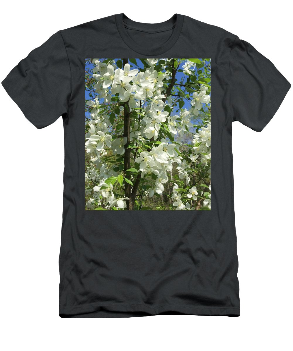 Flower Men's T-Shirt (Athletic Fit) featuring the photograph White Flowers 2 by Sabina Trzebna