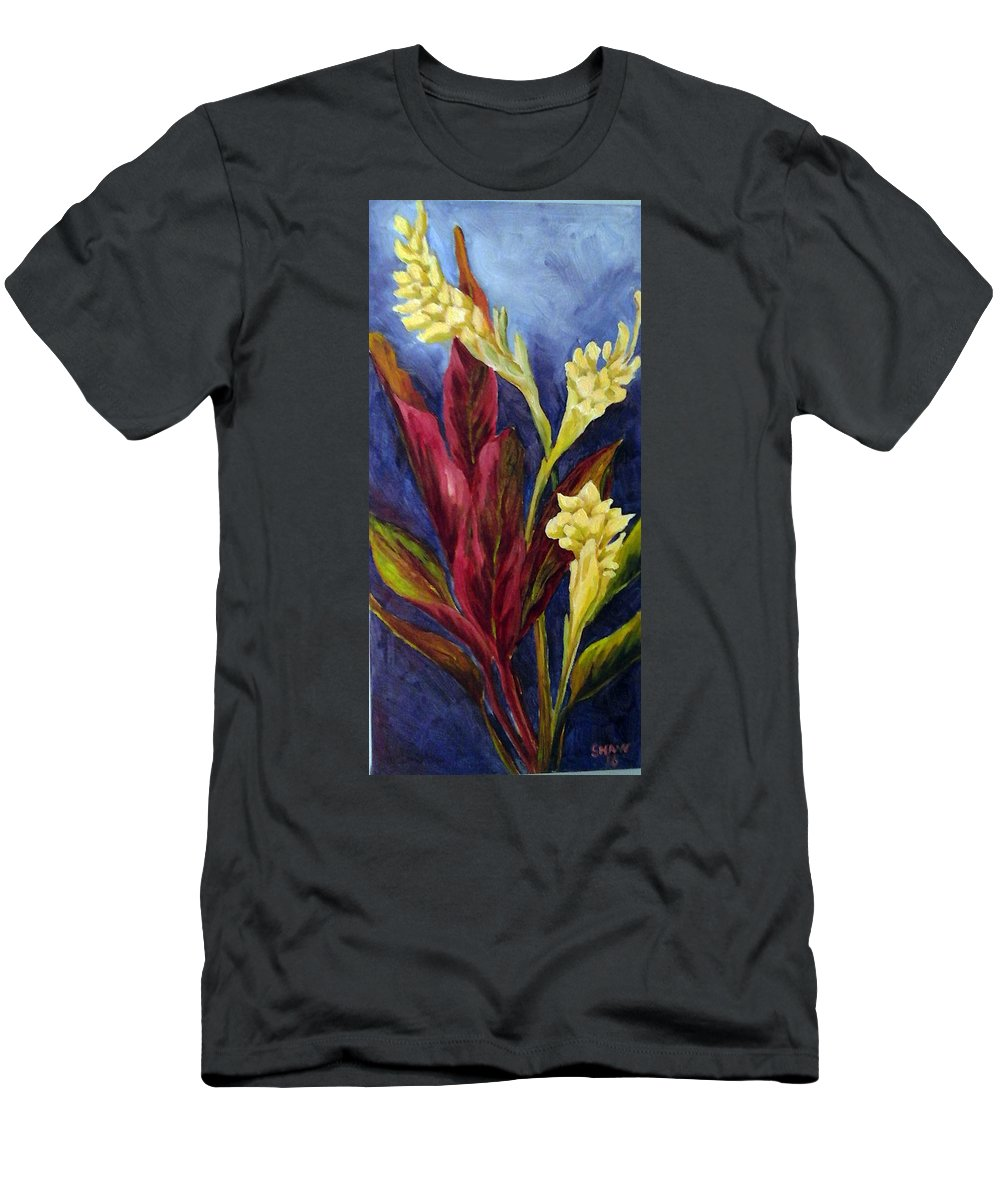 Still Life Men's T-Shirt (Athletic Fit) featuring the painting White Gingers by Judith Shaw