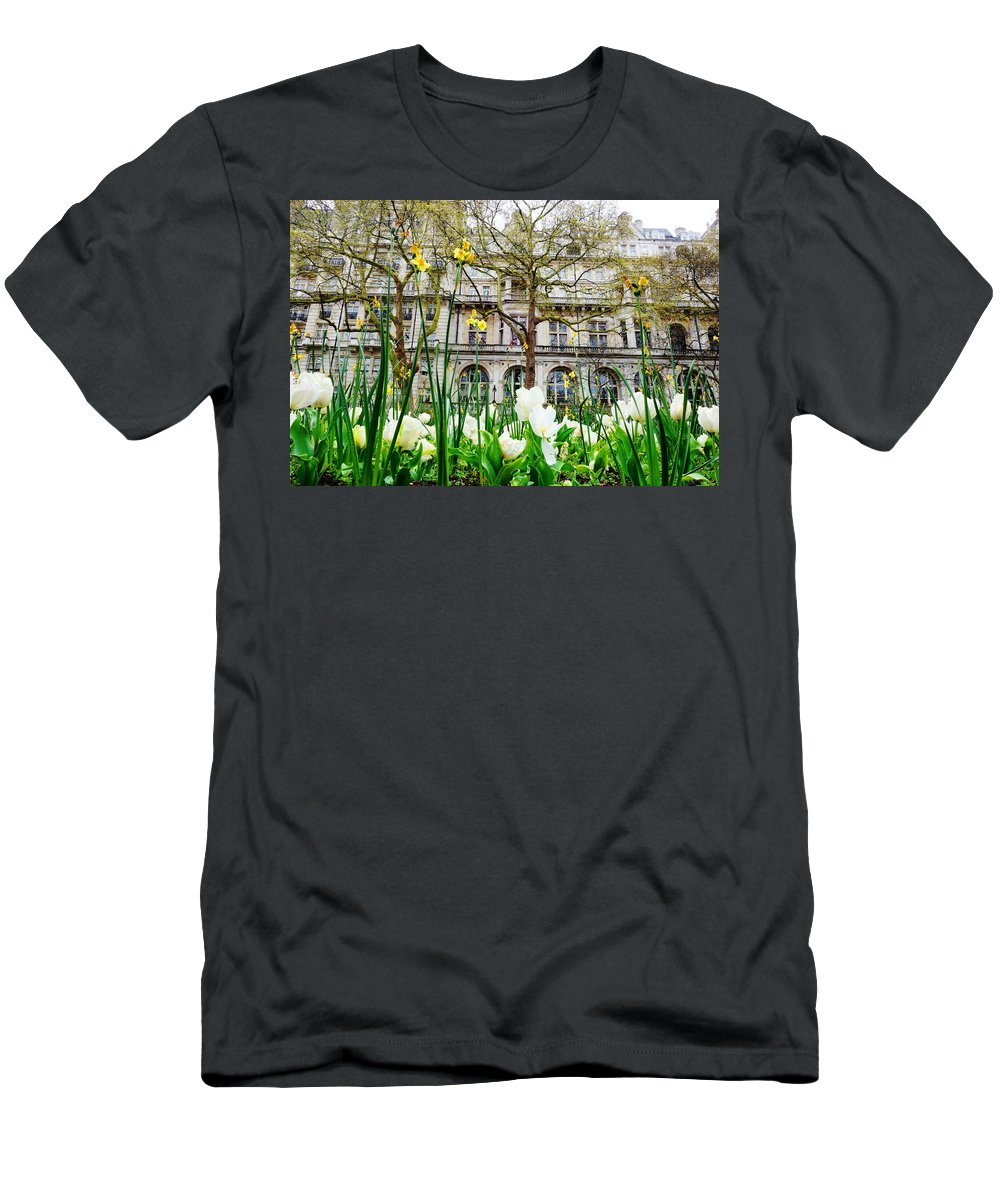 Flowers Men's T-Shirt (Athletic Fit) featuring the photograph Whitehall Gardens by Adrian Cuevas