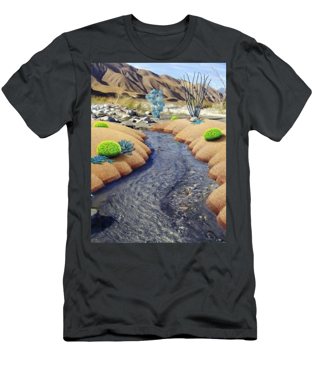 Nature T-Shirt featuring the painting Whitewater by Snake Jagger