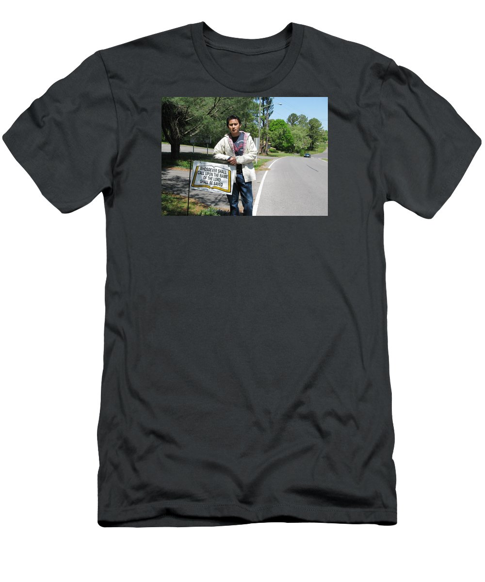 Scripture Men's T-Shirt (Athletic Fit) featuring the photograph Whosoever Shall Call by Zao