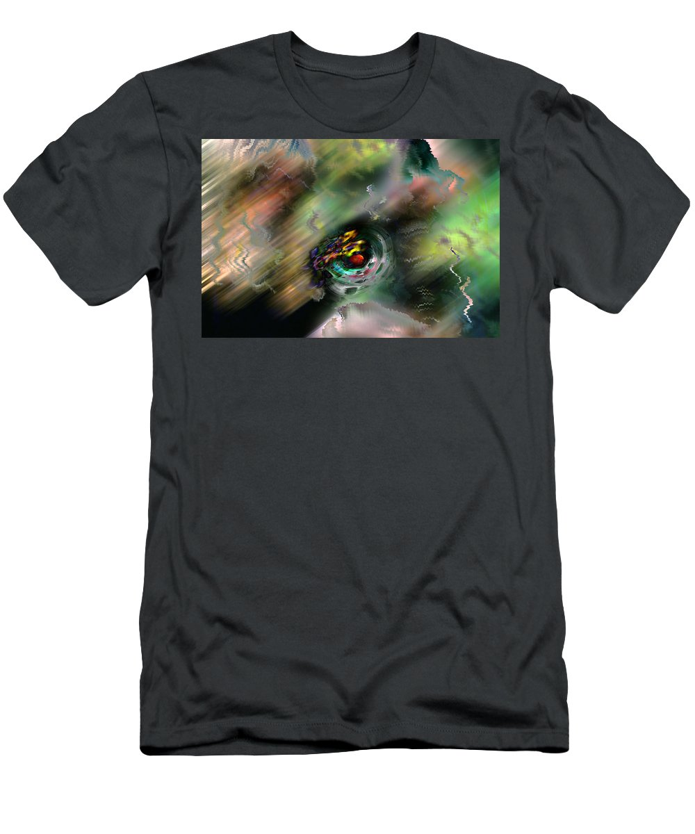 Abstract Men's T-Shirt (Athletic Fit) featuring the digital art Widdershins by James Estes