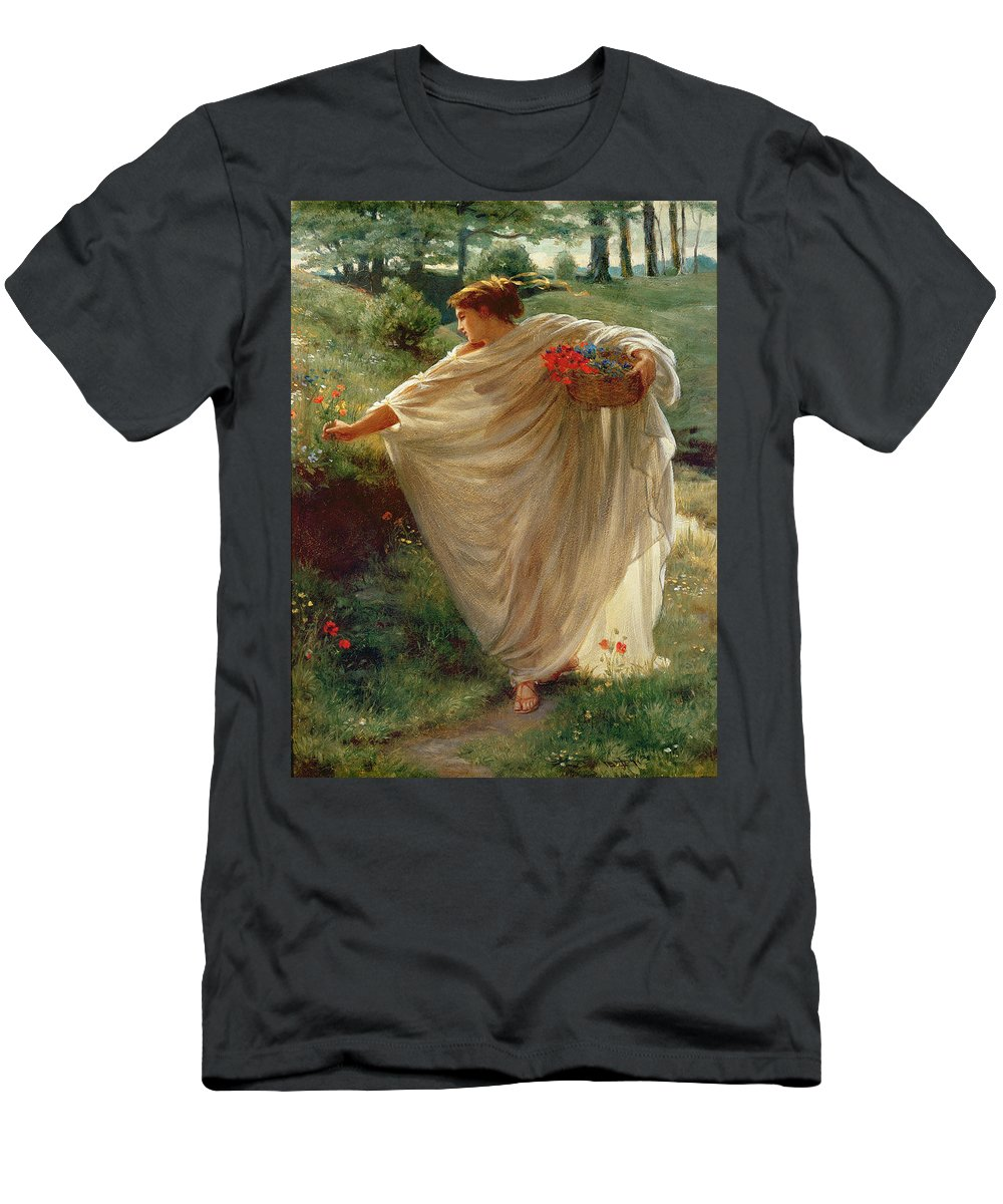 Wild Men's T-Shirt (Athletic Fit) featuring the painting Wild Blossoms by Sir Edward John Poynter