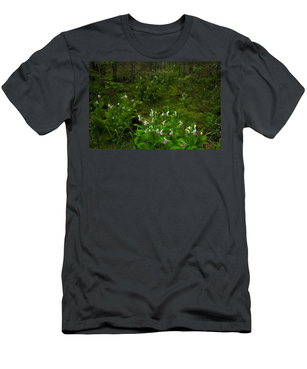 Wildflowers Men's T-Shirt (Athletic Fit) featuring the photograph Wild Garden #3 by Irwin Barrett