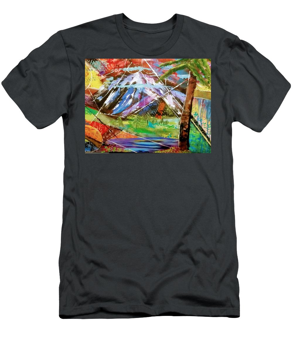 Siskiyou County In Northern California. T-Shirt featuring the painting Wild Siskiyou by Valerie Josi