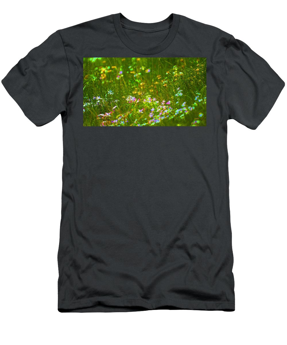 Wildflower Men's T-Shirt (Athletic Fit) featuring the photograph Wildflower Field by Heather Coen