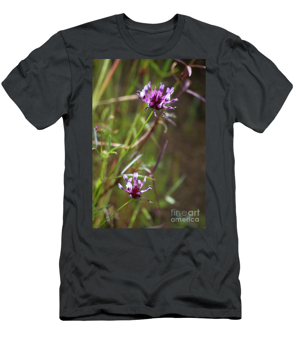 Pink Men's T-Shirt (Athletic Fit) featuring the photograph Wildflowers by Jim And Emily Bush
