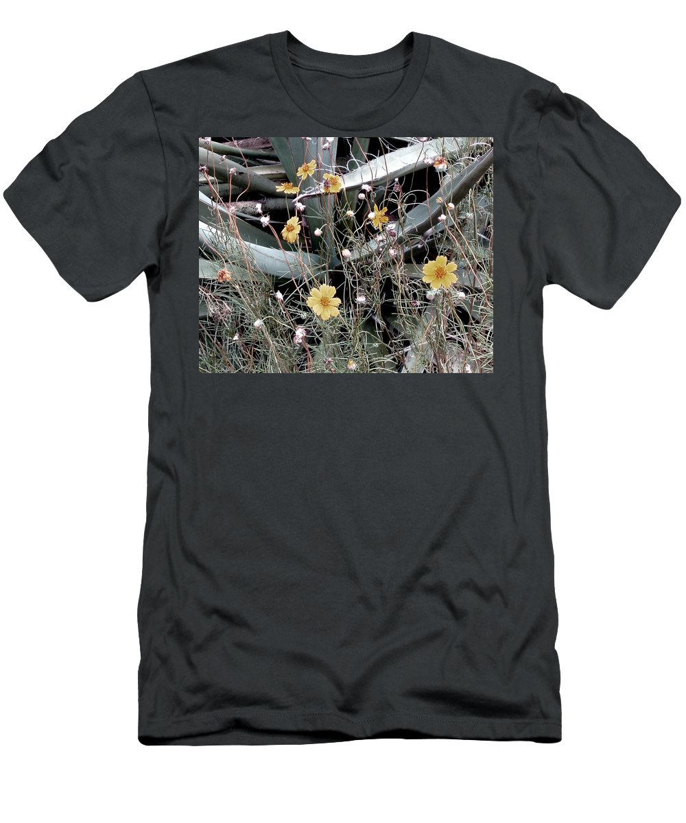 Photography Men's T-Shirt (Athletic Fit) featuring the photograph Wildflowers by Wayne Potrafka