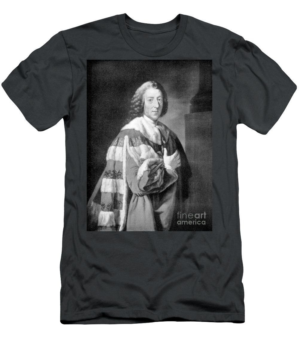 Historic Men's T-Shirt (Athletic Fit) featuring the photograph William Pitt, Prime Minister Of Britain by Wellcome Images