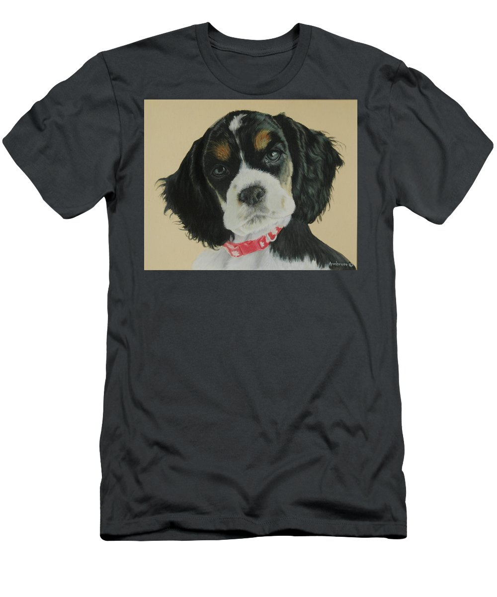 Dog Men's T-Shirt (Athletic Fit) featuring the pastel Willow by Carla Armbrust