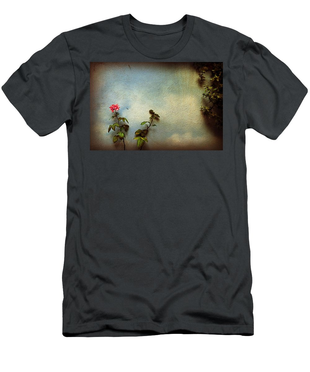 Rose Men's T-Shirt (Athletic Fit) featuring the photograph Wilting Rose by Silvia Ganora