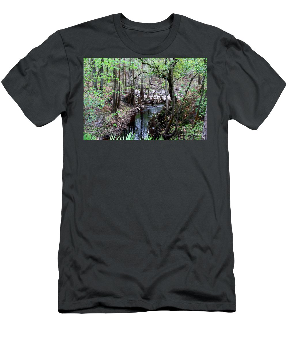Sopchoppy River Men's T-Shirt (Athletic Fit) featuring the photograph Winding Sopchoppy River by Barbara Bowen