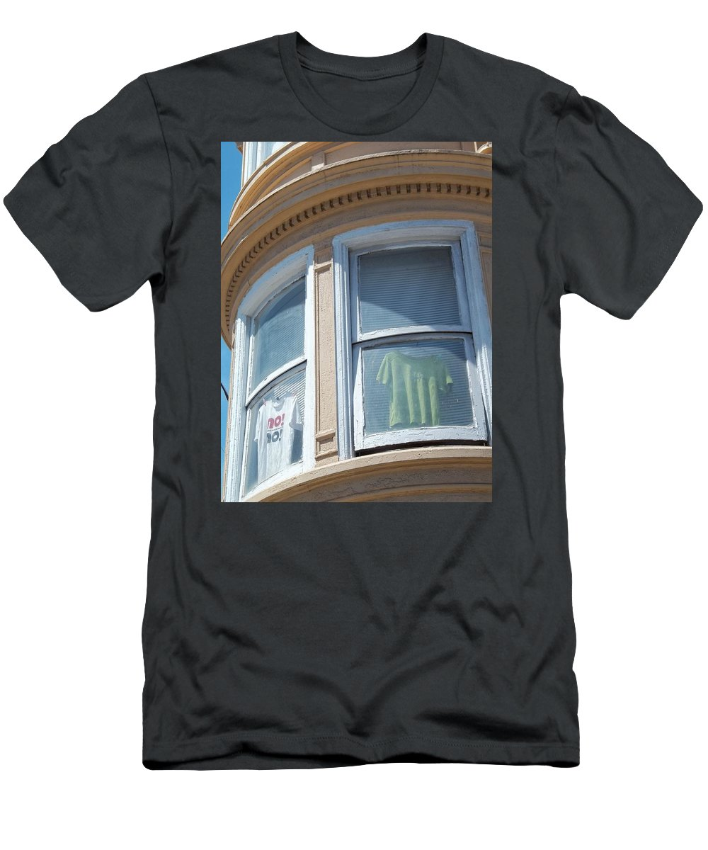 Cities Men's T-Shirt (Athletic Fit) featuring the photograph Window Dressing by Karen Christine Boissonneault
