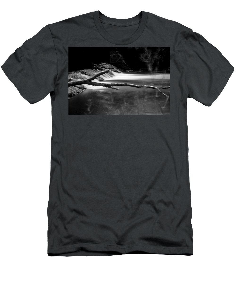 Monochrome Men's T-Shirt (Athletic Fit) featuring the photograph Winooski River by Brent Gould