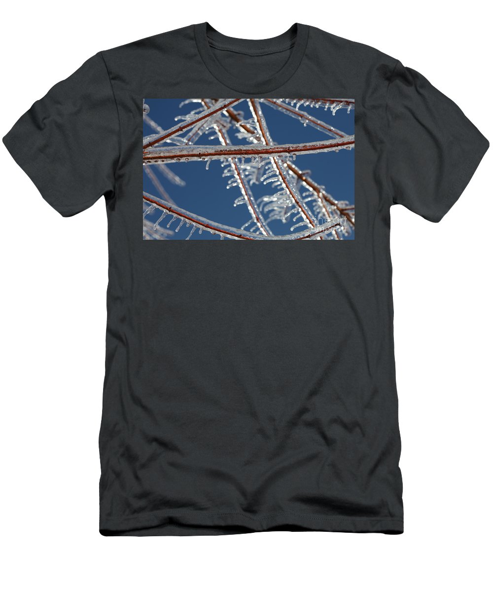 Winter Men's T-Shirt (Athletic Fit) featuring the photograph Winter Blue by Nadine Rippelmeyer