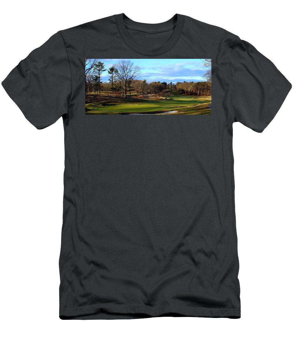 Bethpage Men's T-Shirt (Athletic Fit) featuring the photograph Winter Golf by John Wall