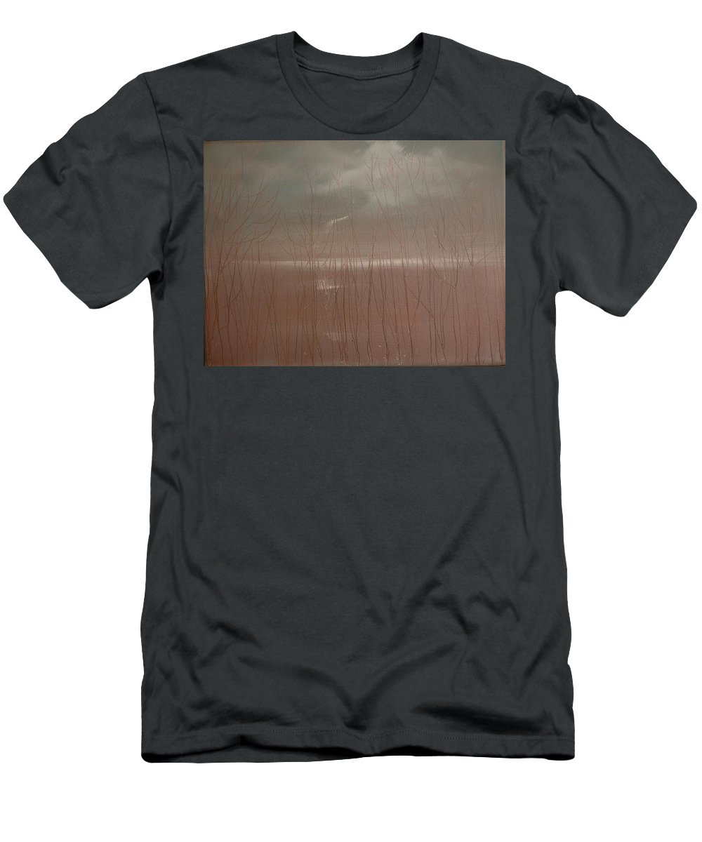 Dusk Men's T-Shirt (Athletic Fit) featuring the painting Winter Of Hope by Jack Diamond