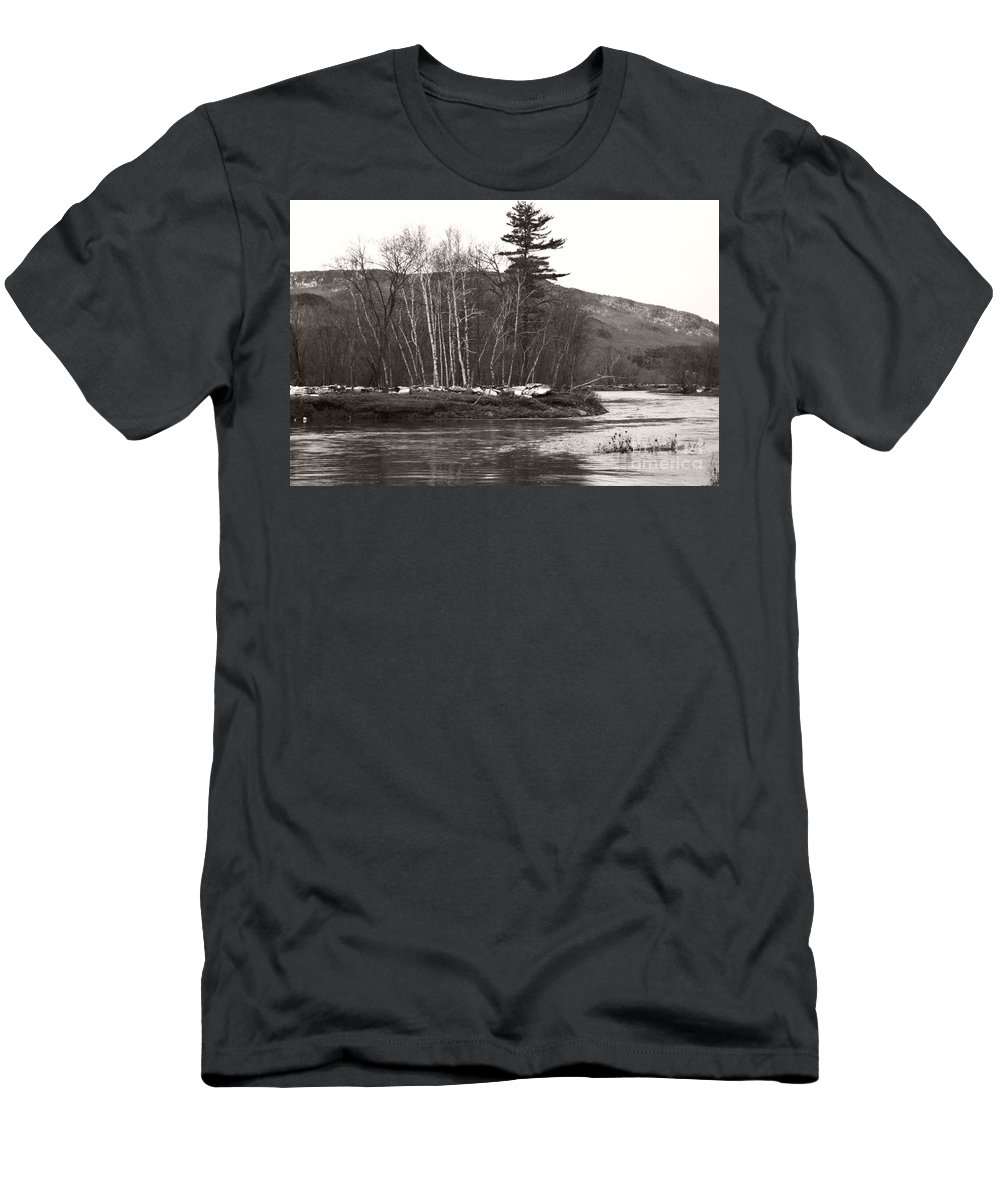 Men's T-Shirt (Athletic Fit) featuring the photograph Winter River Number One by Heather Kirk