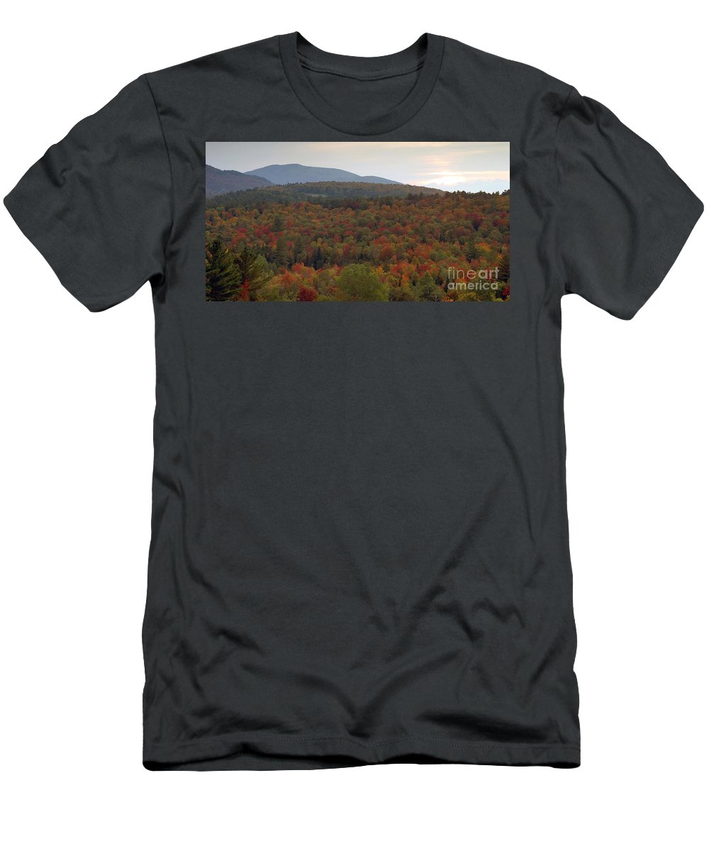 Fall Men's T-Shirt (Athletic Fit) featuring the photograph Winters Approach by David Lee Thompson