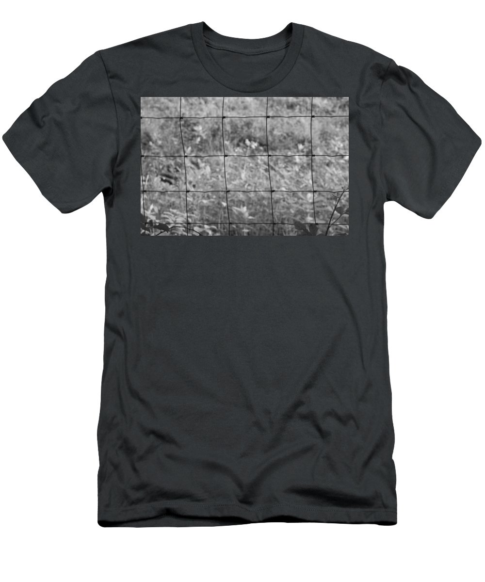Wire Men's T-Shirt (Athletic Fit) featuring the photograph Wire Fence by Frances Lewis