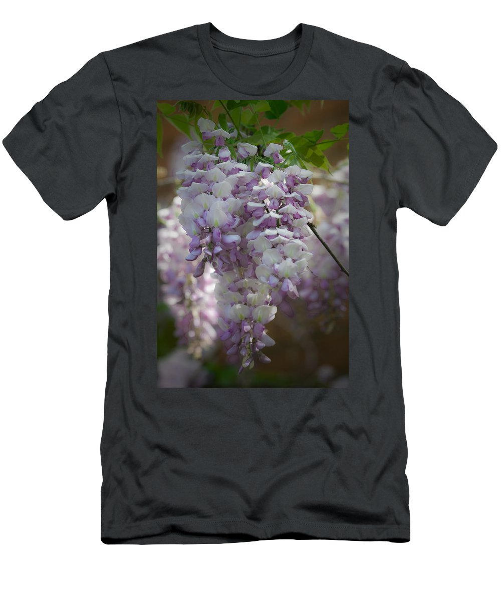 Wisteria Men's T-Shirt (Athletic Fit) featuring the photograph Wisteria Magic by Teresa Mucha