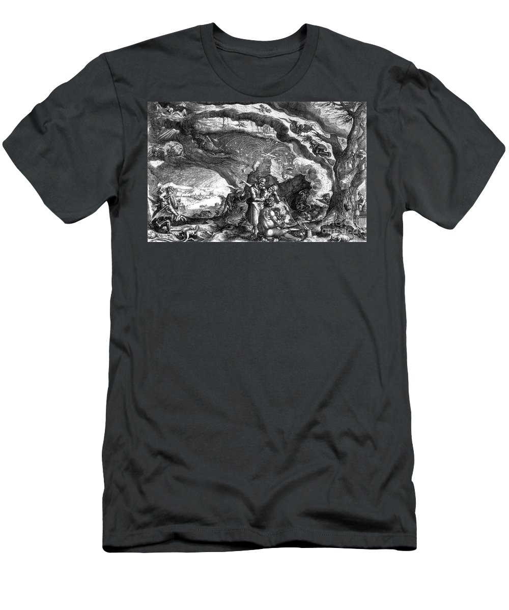 History Men's T-Shirt (Athletic Fit) featuring the photograph Witches Sabbath, 1700 by Science Source