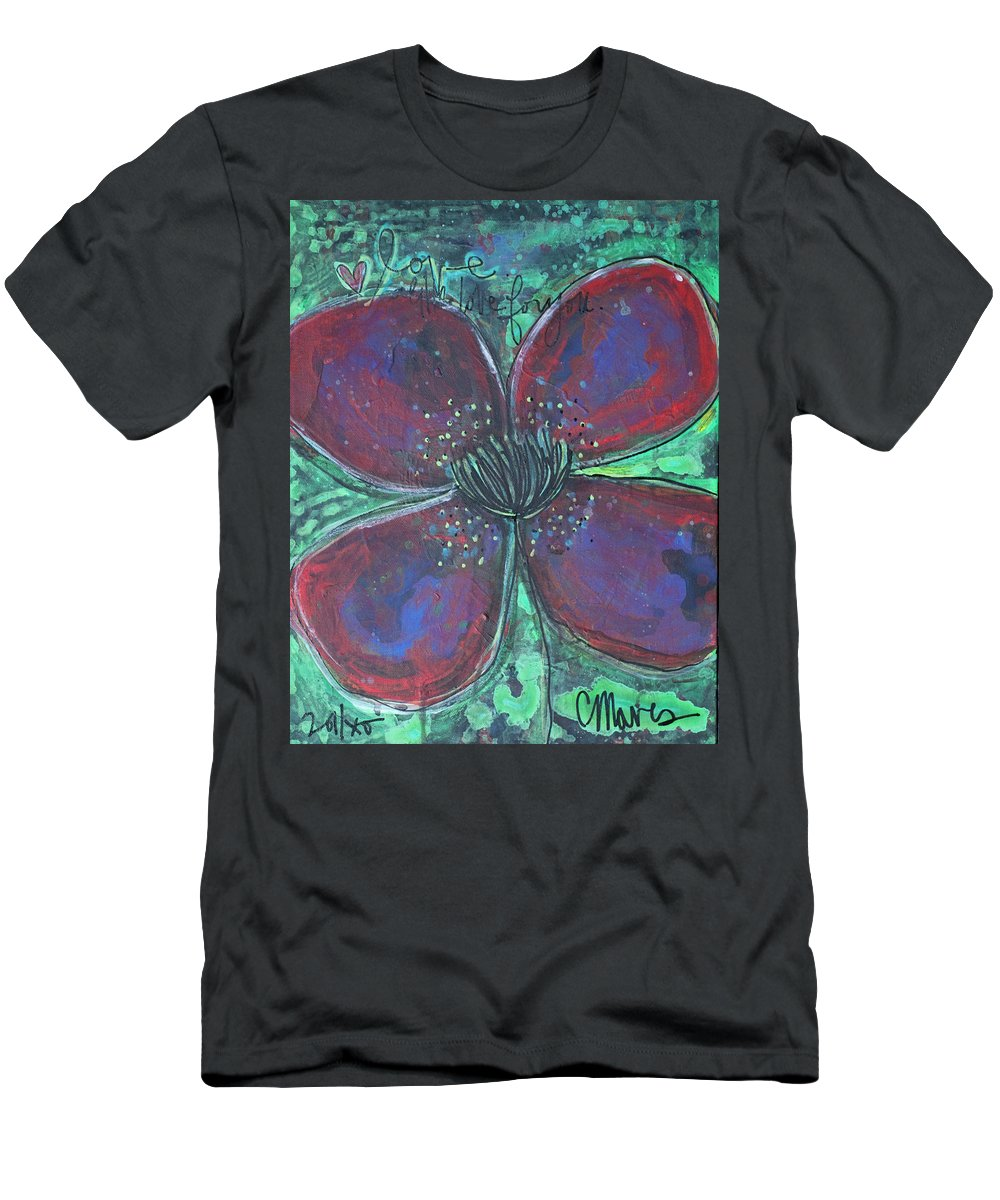 Poppy Men's T-Shirt (Athletic Fit) featuring the painting With Love For You by Laurie Maves ART