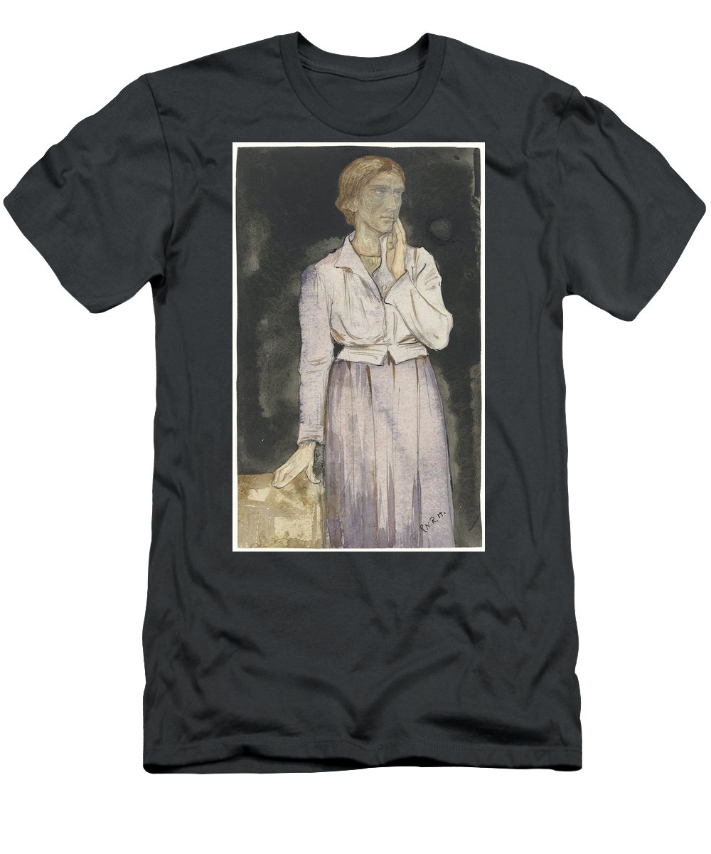 Woman Standing Men's T-Shirt (Athletic Fit) featuring the painting Woman Standing by Richard Roland