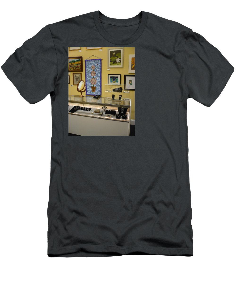 Oil Men's T-Shirt (Athletic Fit) featuring the painting World-view by Sergey Ignatenko