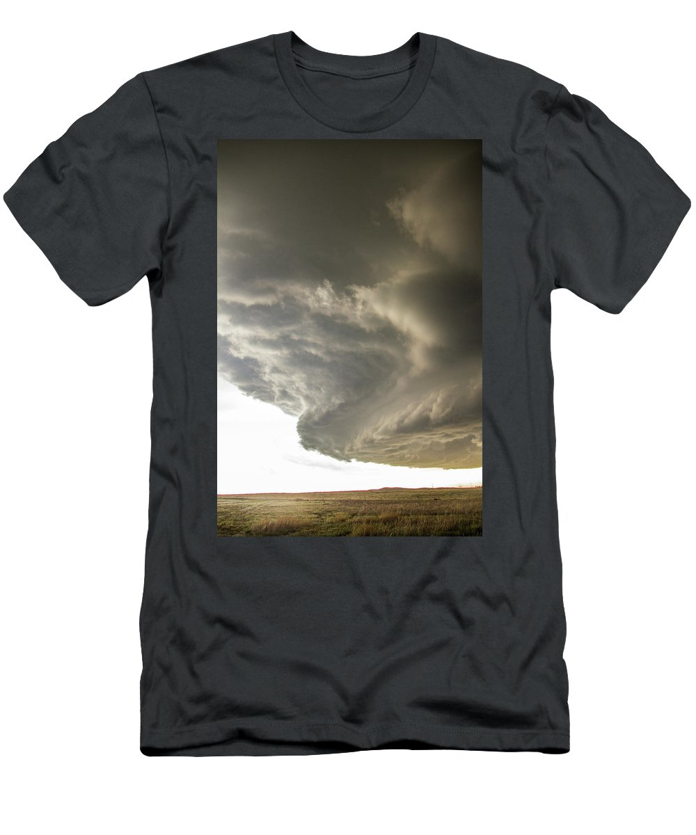 Nebraskasc Men's T-Shirt (Athletic Fit) featuring the photograph Wray Colorado Tornado 015 by NebraskaSC