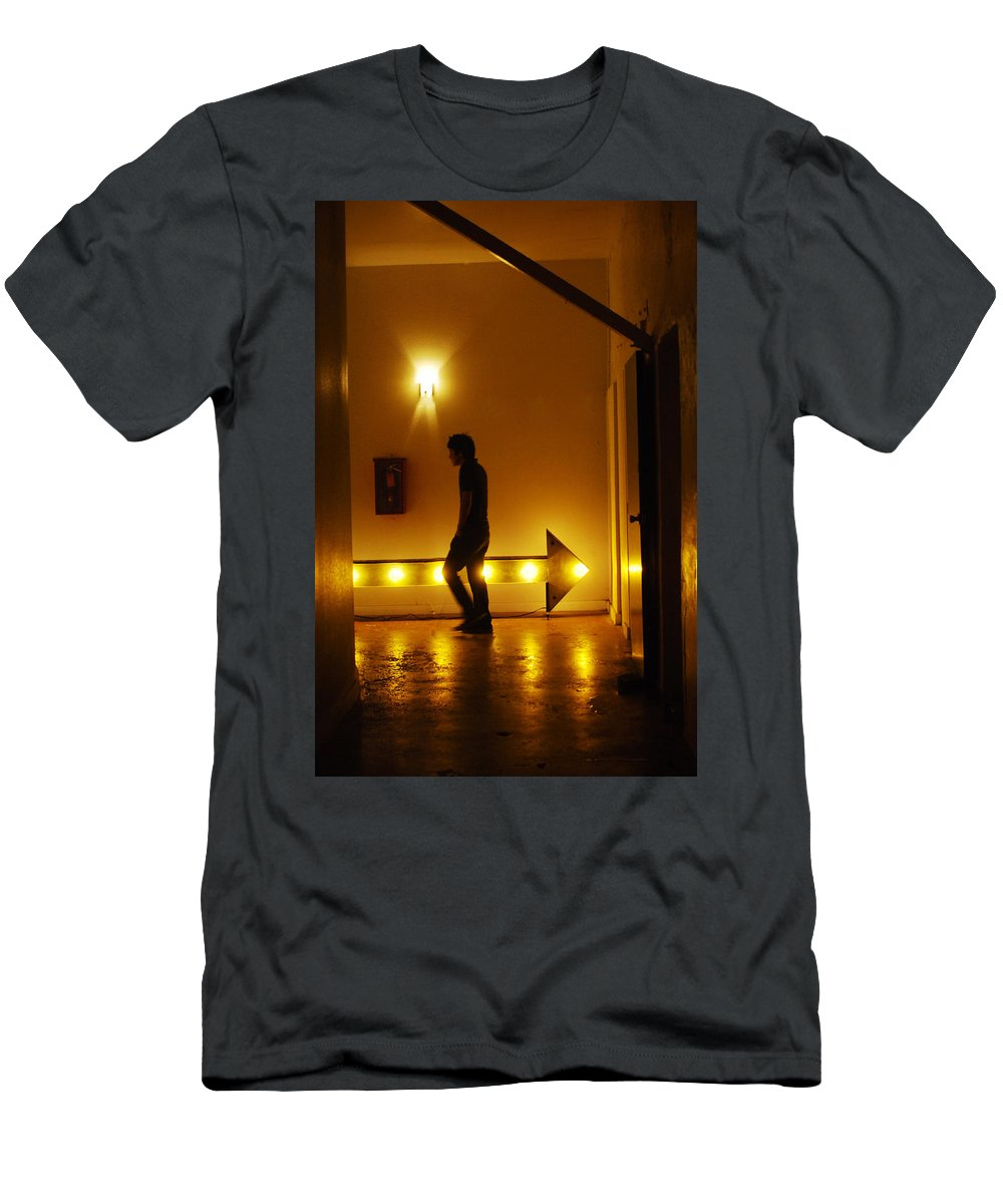 Urban Men's T-Shirt (Athletic Fit) featuring the photograph Wrong Way by Jill Reger