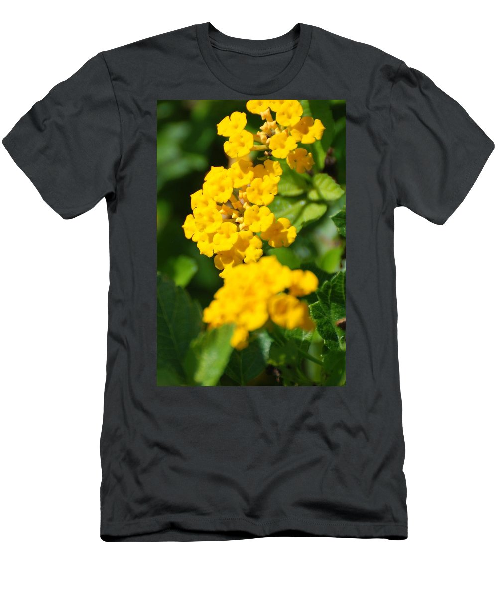 Flowers Men's T-Shirt (Athletic Fit) featuring the photograph Yellow Blooms by Rob Hans