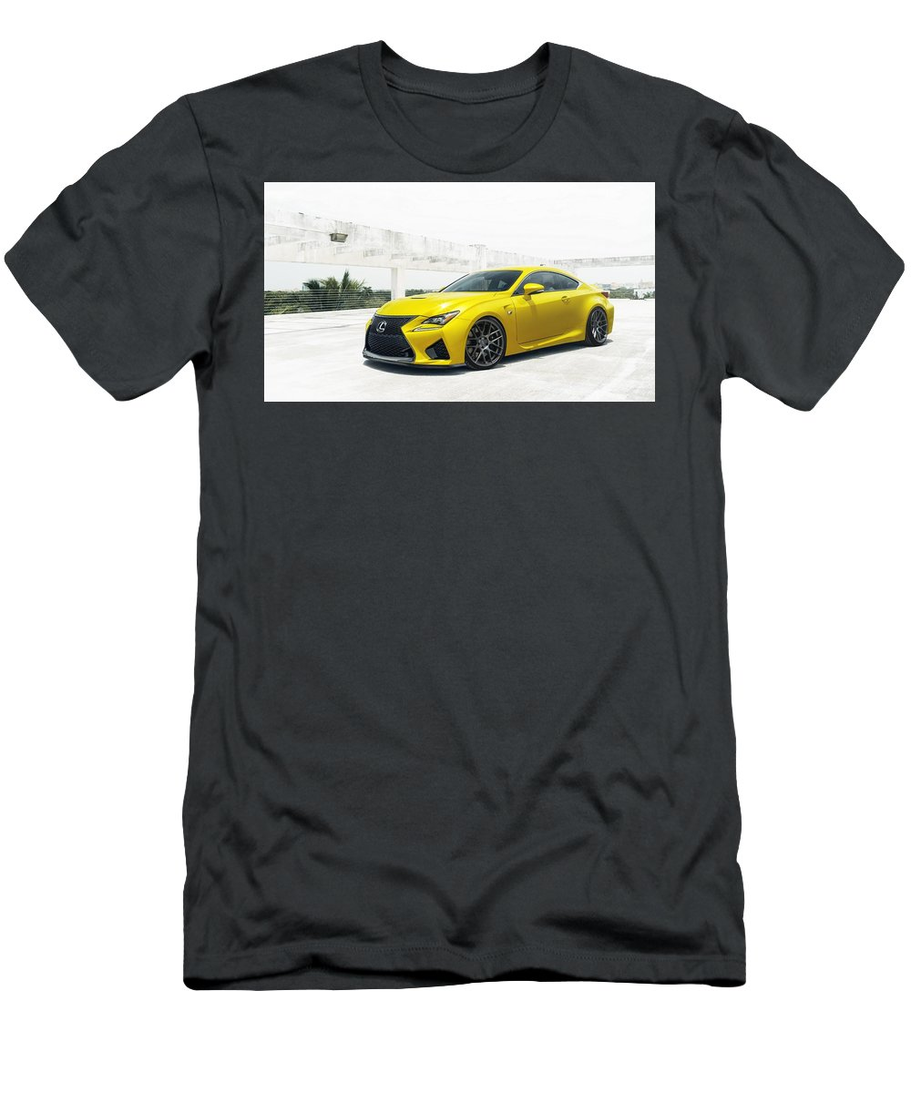 Yellow Lexus Men's T-Shirt (Athletic Fit) featuring the digital art Yellow Lexus4 by Mery Moon