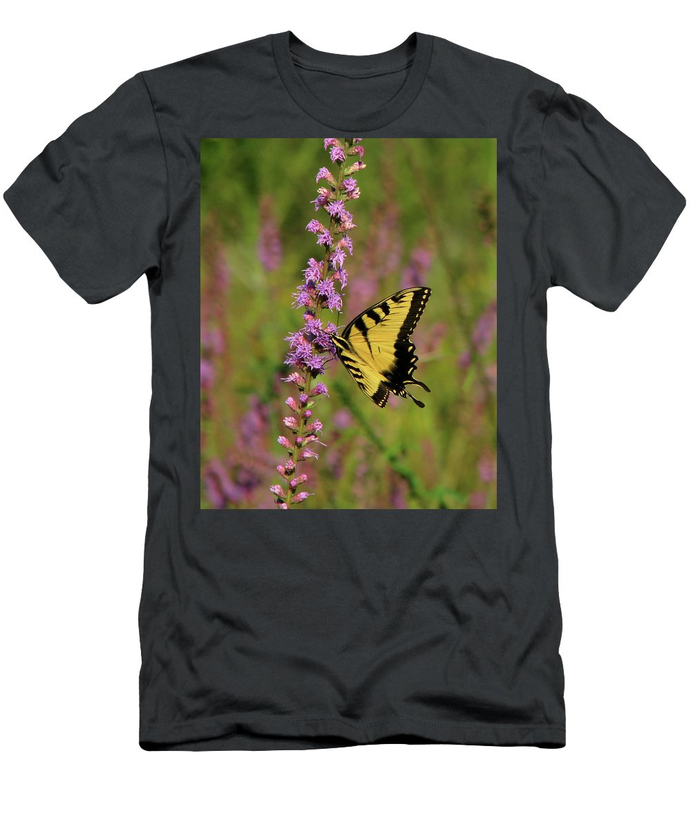 Nature Men's T-Shirt (Athletic Fit) featuring the photograph Yellow Tiger by Peg Urban