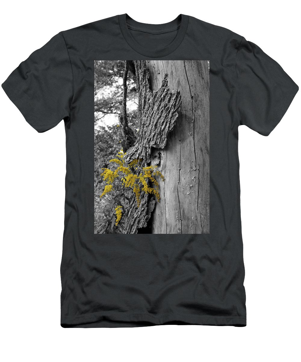 Bark T-Shirt featuring the photograph Yellow Tufts by Dylan Punke