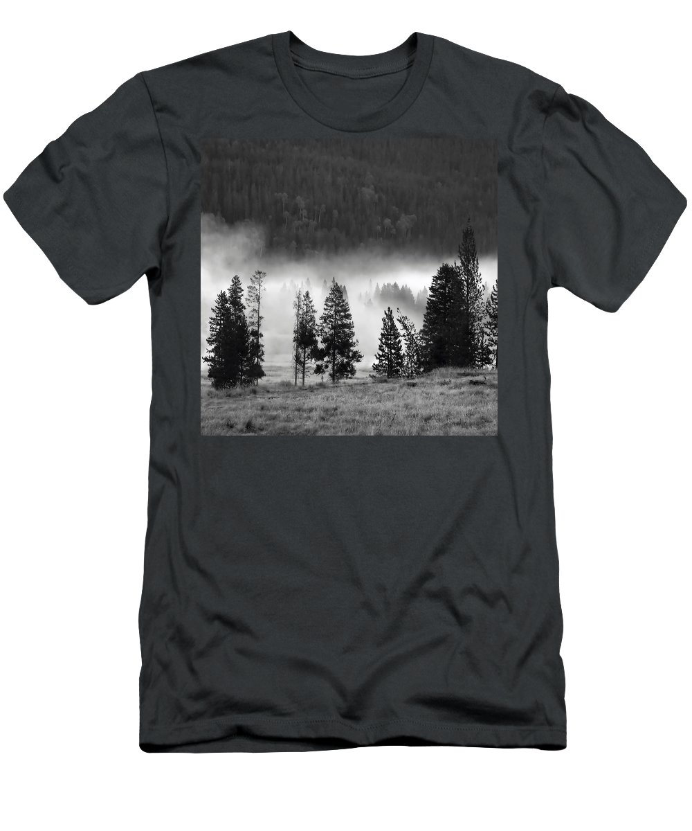 America Men's T-Shirt (Athletic Fit) featuring the photograph Yellowstone 157 by Ingrid Smith-Johnsen