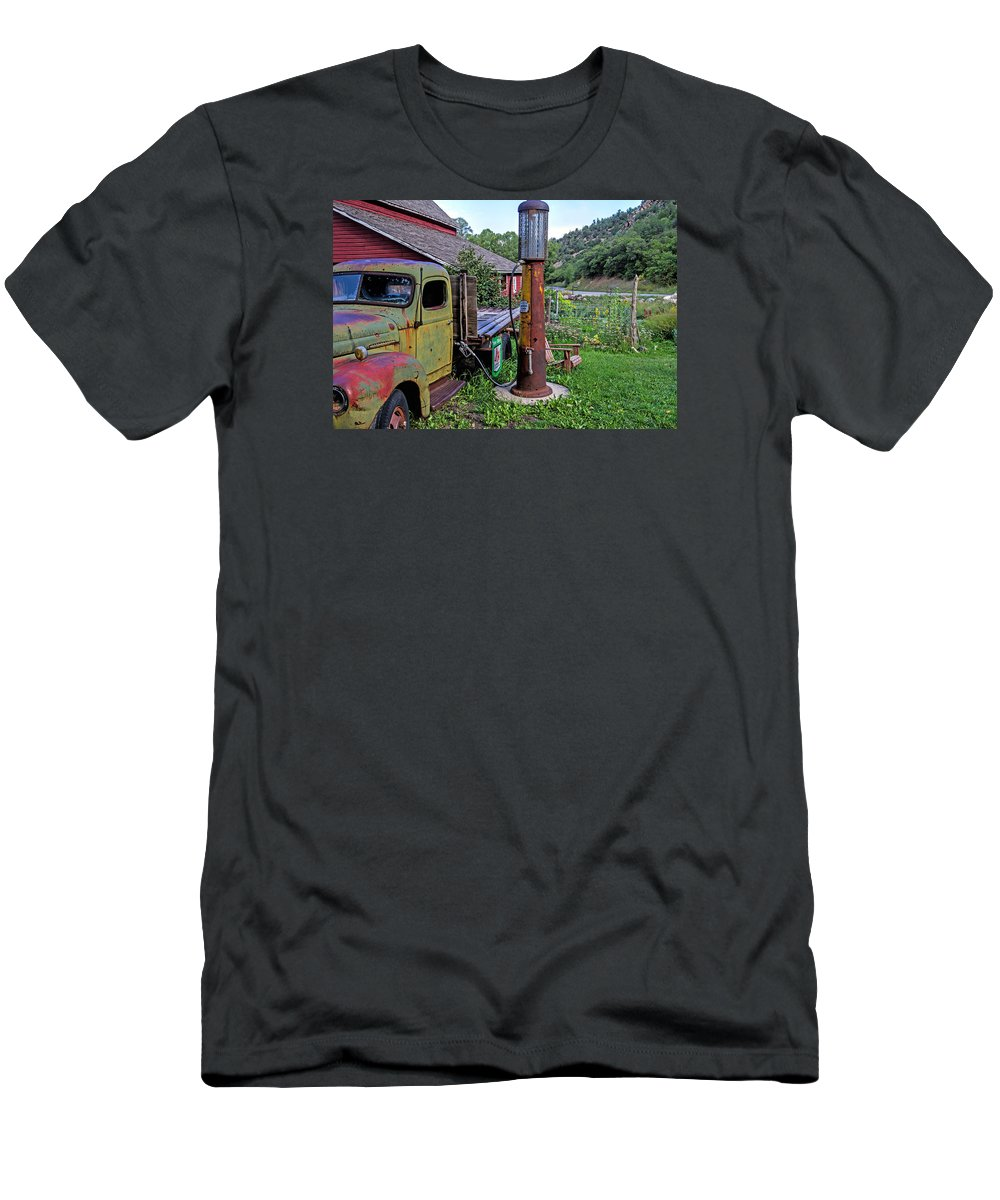 Gas Pump T-Shirt featuring the photograph Yesterday's Dream by Alana Thrower