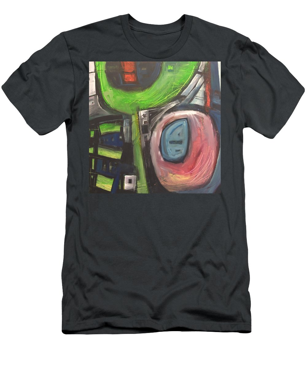 Abstract Men's T-Shirt (Athletic Fit) featuring the painting YO by Tim Nyberg